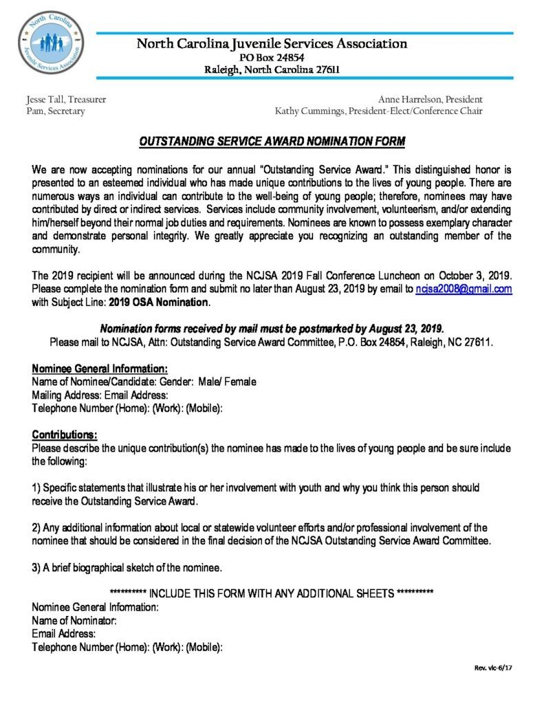 NCJSA Fall 2019 Outstanding Service Award Nomination Form Revised 4 2019 pdf 791x1024